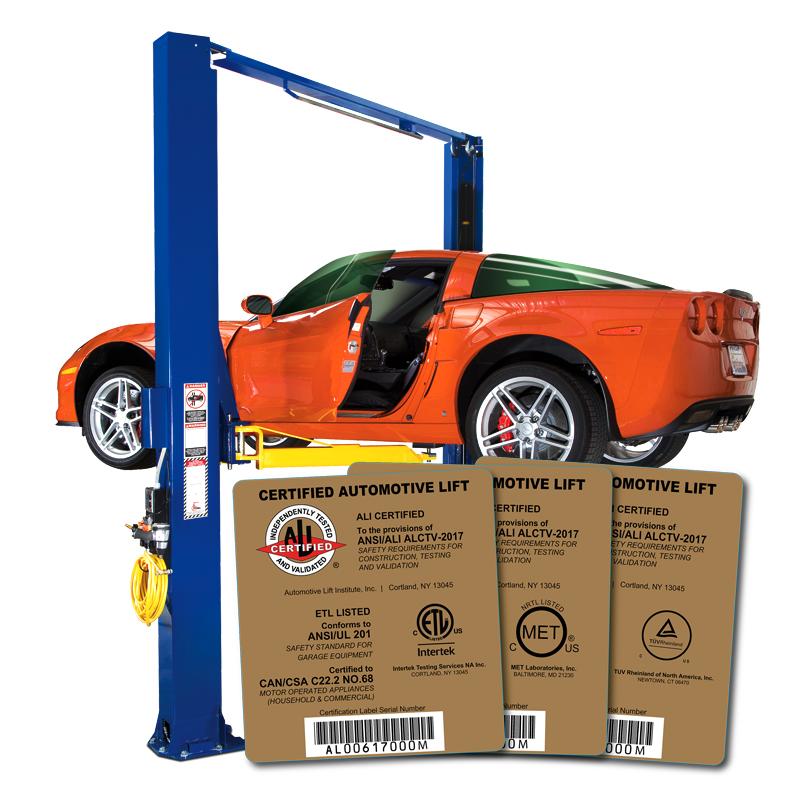 ALI certified Lift Labels
